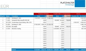 Einnahmenüberschussrechnung Eür Vorlage Beispiel