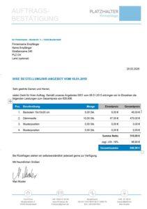 Vorlage Fur Auftragsbestatigung Zum Kostenlosen Download
