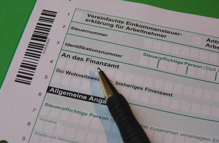 Einkommensteuererklaerung Formular